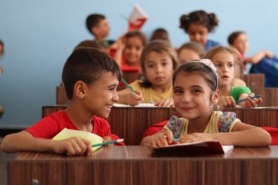 In pictures: children who are so happy to be at school and learning