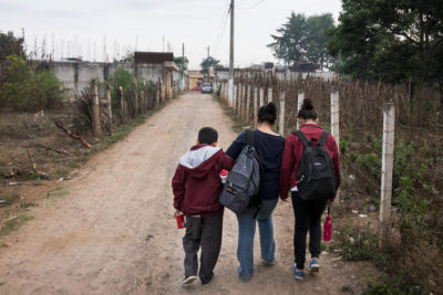 Education is a lure for families and children who flee violence in Central America