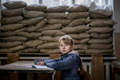New school year, same old fears for children in Ukraine's conflict zone