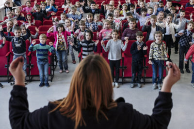 Schoolchildren learn how to deal with deadly threat of mines and explosives in Ukraine