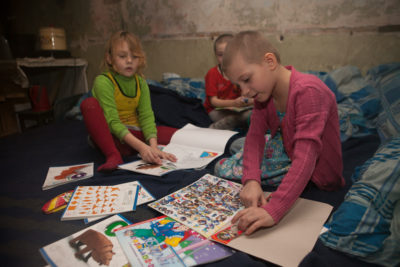 War drills and bomb shelters are part of life in Ukrainian schools