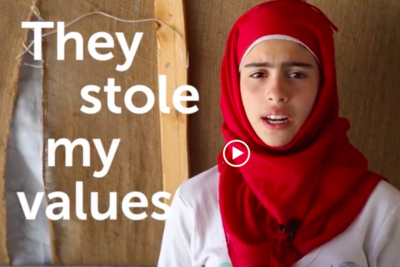 """Where is my education?"" Watch Syrian refugee girl's message to world leaders"