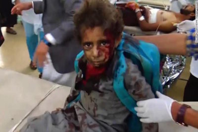 Yemen school bus attack: UN demands investigation as officials say 40 children died