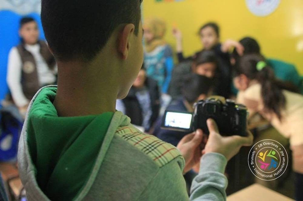 Syrian school children use film-making to escape from life