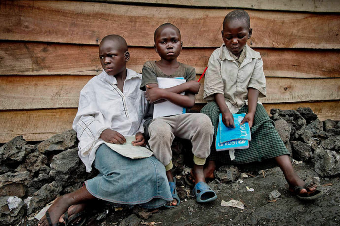 """""""Our aim is to provide access to schooling for vulnerable children in DRC military camp"""""""