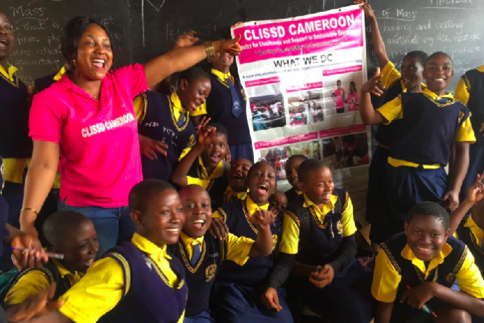 """""""We are helping thousands of girls in Cameroon to end the shame surrounding menstruation"""""""