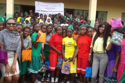 """We equip girls with kits that will empower them to live a clean and healthy life"""