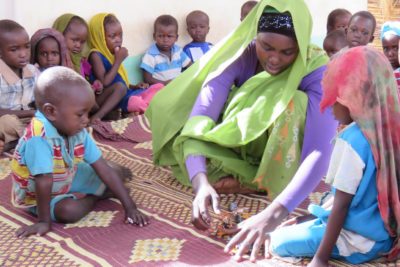Little Ripples programme has a big effect on young refugee children in Chad
