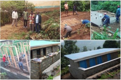 """How a community built toilets that will help to keep children, especially girls, in school"""