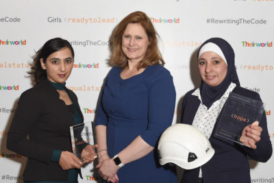 Female White Helmets from Syria and Afghan footballer receive Theirworld awards